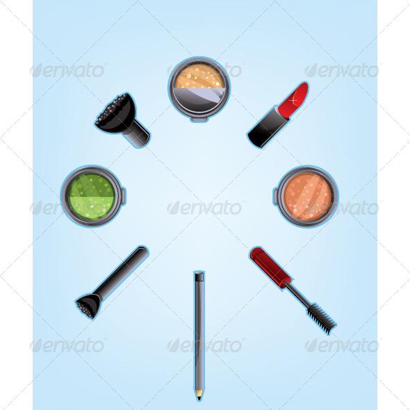 GraphicRiver Makeup Set 5718170
