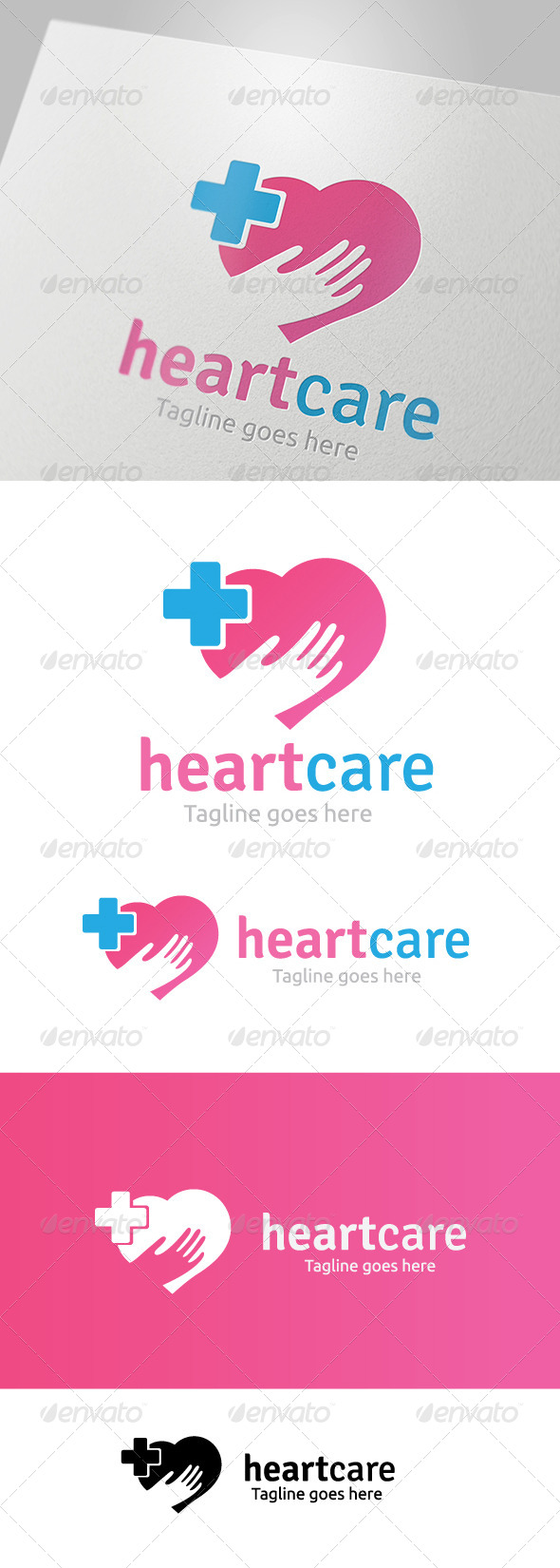 GraphicRiver Heart Care Logo V2 5718291