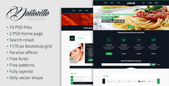 Dortoretto PSD Theme - Retail PSD Templates