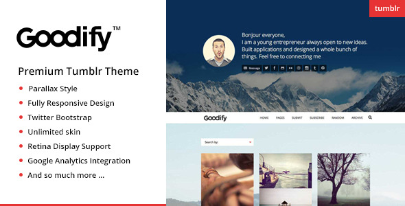 Goodify - Responsive Tumblr Portfolio Theme - GOODIFY - Premium Tumblr Theme