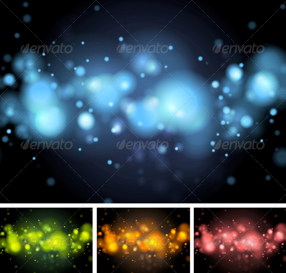 GraphicRiver Colorful Shiny Vector Lights 5719217