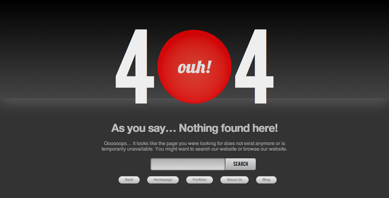 InFamous - Modern 404 Error Page