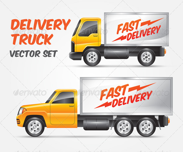 delivery truck vector - photo #13