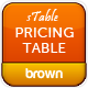 sTable Pricing Table