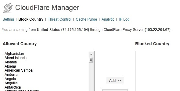 CodeCanyon CloudFlare Manager 5694600