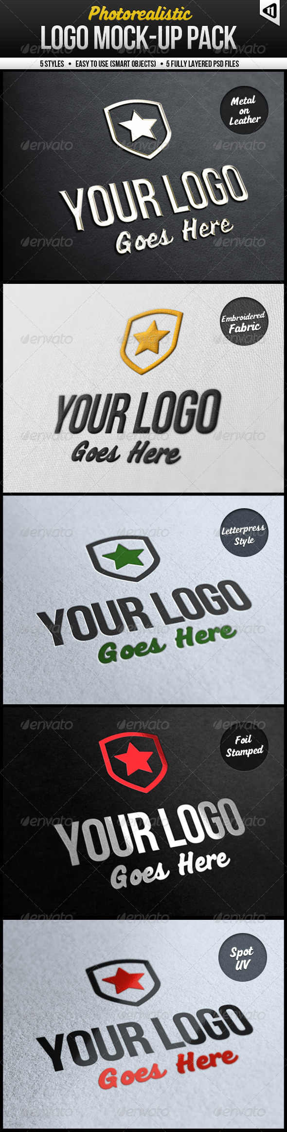 Photorealistic Logo Mock-Up Pack