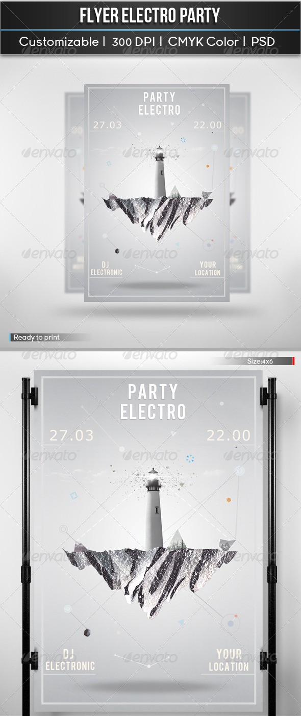 GraphicRiver Flyer Electro Party 5720312