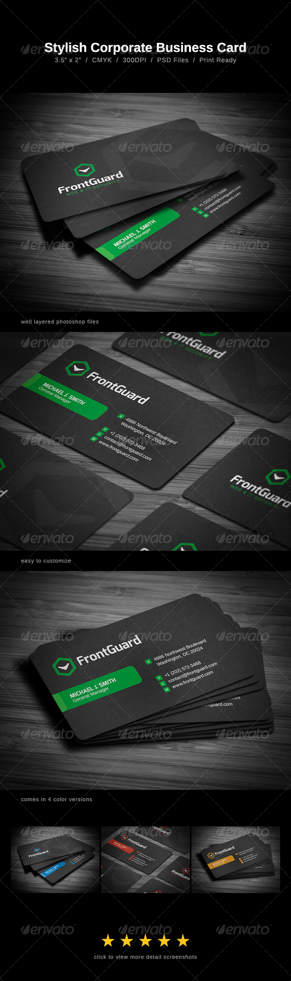 GraphicRiver Stylish Business Card 5720963