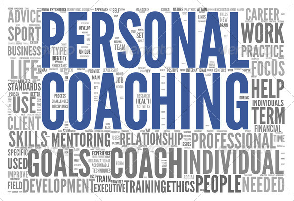 Coaching concept tag cloud - Stock Photo - Images