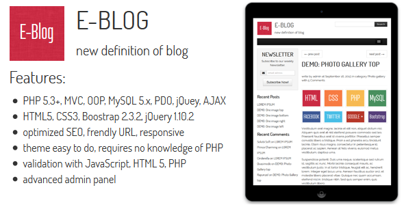 CodeCanyon E-BLOG New Definition Of Blog 5650033