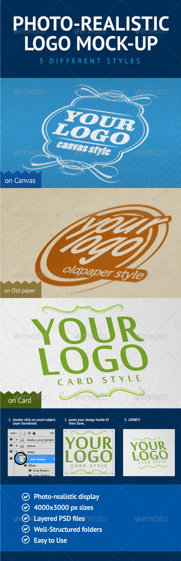 Photo-Realistic Logo Mock-Up - Logo Product Mock-Ups