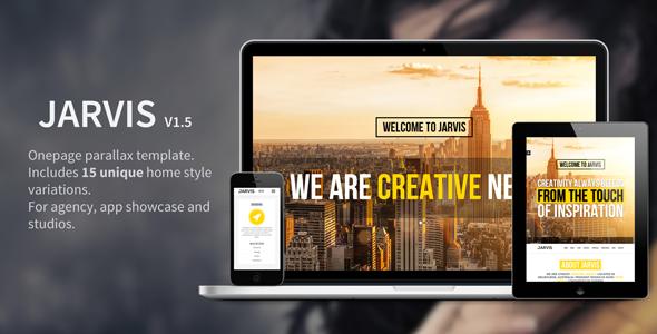 Jarvis - Onepage Parallax Theme - Portfolio Creative