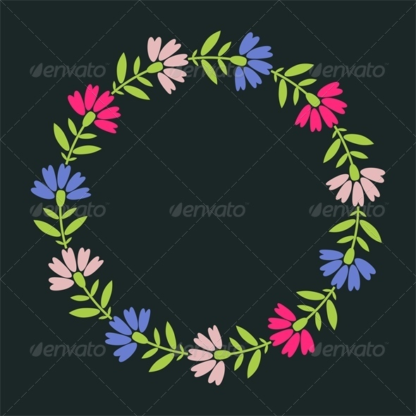 GraphicRiver Floral Frame 5722040