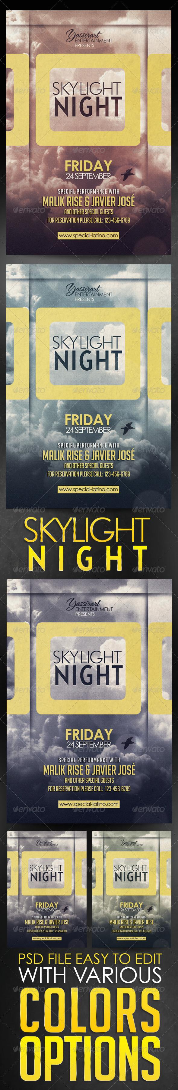 Skylight Night 3 | GraphicRiver