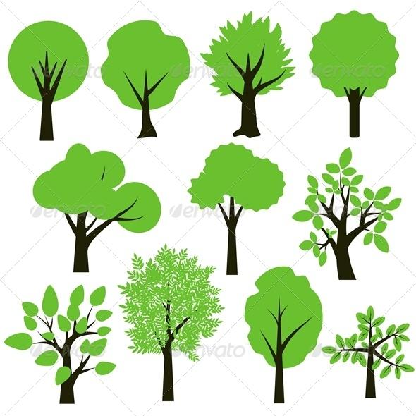 GraphicRiver Trees Set 5722080