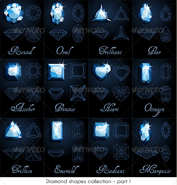 GraphicRiver Diamond Shapes Collection 5722242