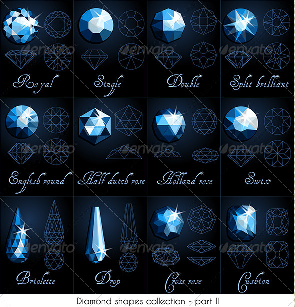 GraphicRiver Diamond Shapes Collection 5722243