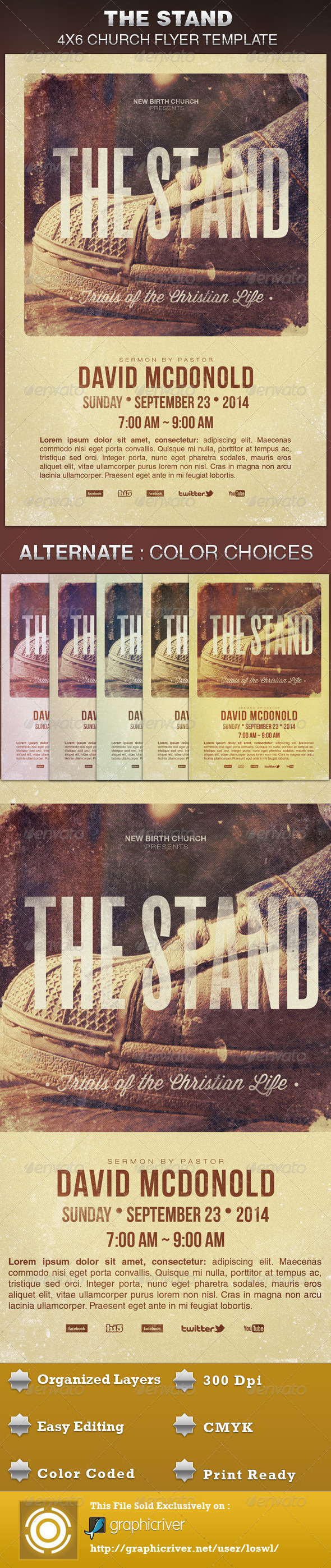 GraphicRiver The Stand Church Flyer Template 5722379