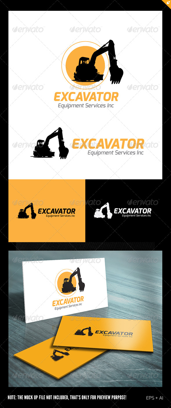GraphicRiver Excavator Equipment Services Logo 5722384