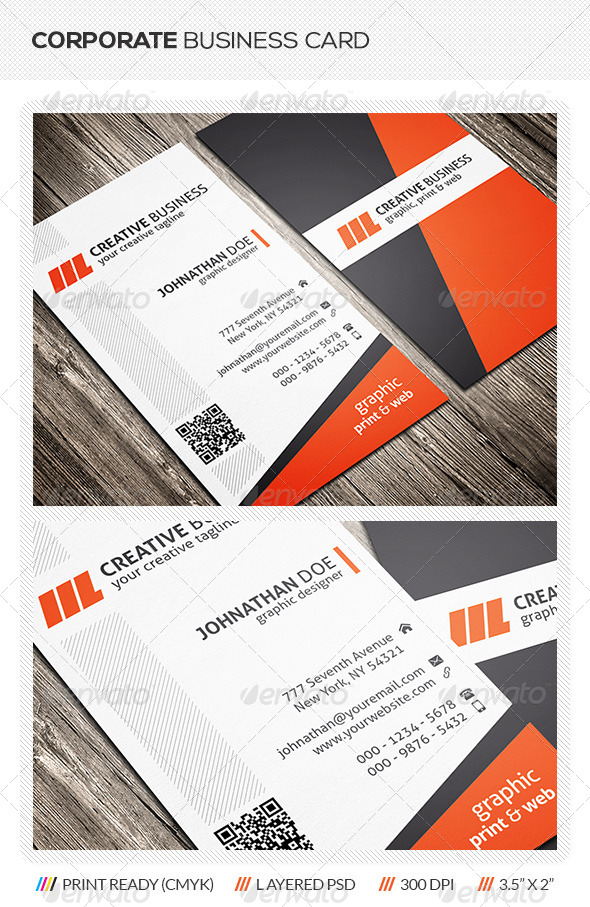 GraphicRiver Corporate Business Card Design 5722420