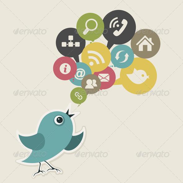 Social bird - Stock Photo - Images
