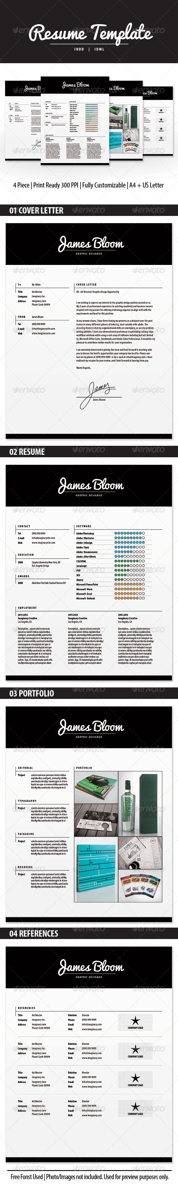 GraphicRiver Resume Template INDD 5723317