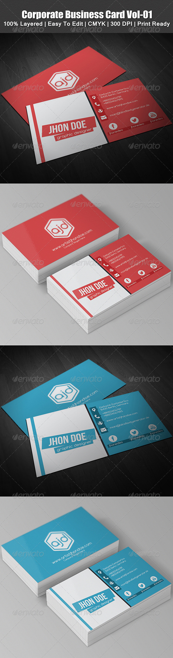 GraphicRiver Corporate Business Card Vol-1 5649244