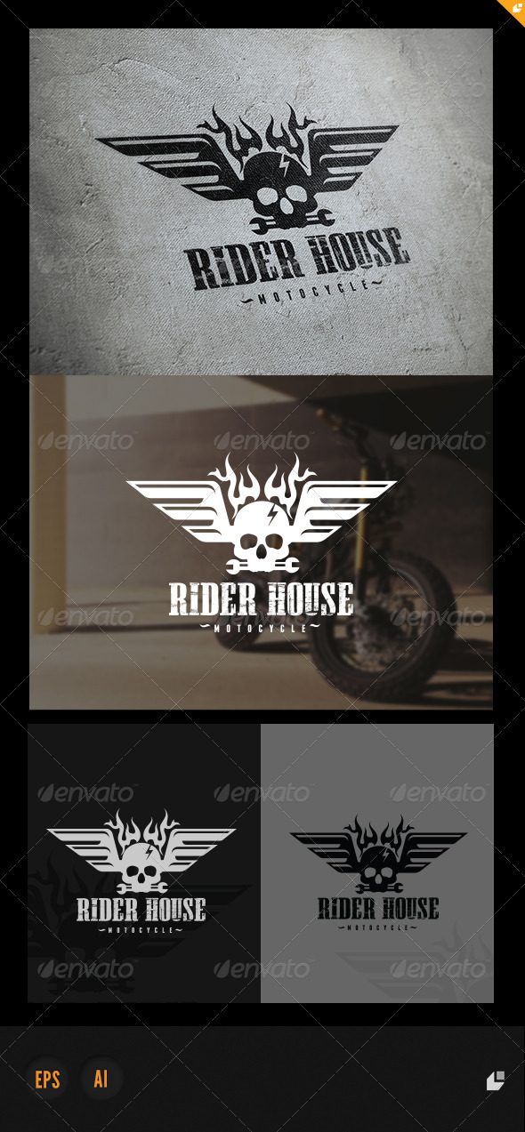 GraphicRiver Rider House Logo 5723607