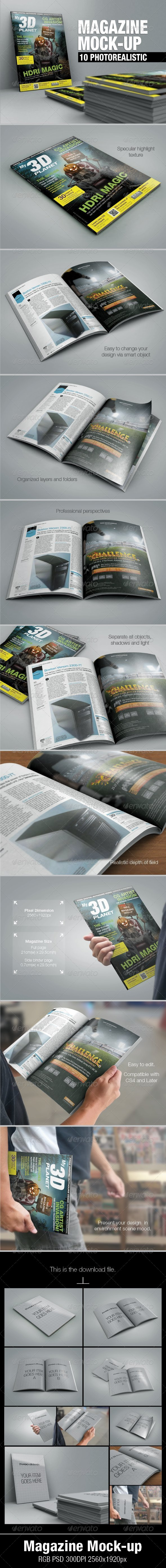 Magazine Mock-up - Magazines Print