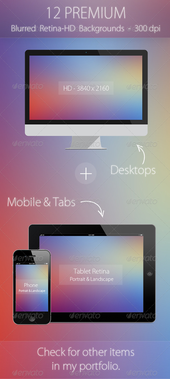GraphicRiver 12 Premium Blurred Retina HD Backgrounds 5723738
