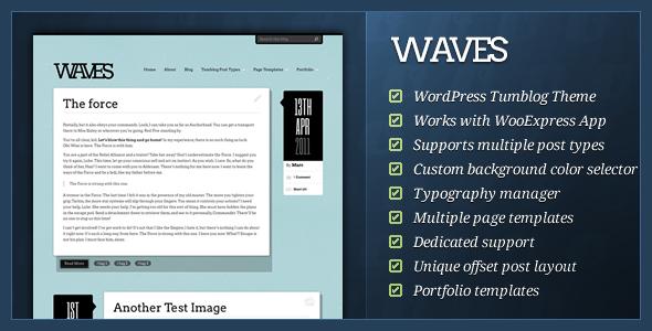 ThemeForest Waves WordPress Tumblog Theme 309521