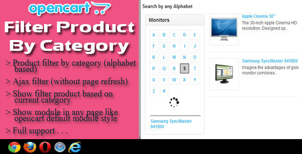 CodeCanyon OpenCart Filter Product By Category 5724055