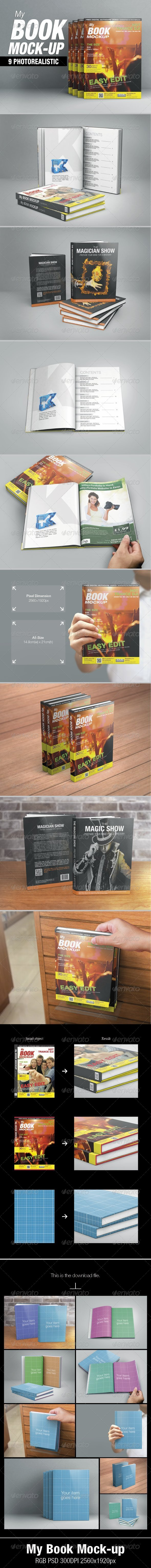 GraphicRiver My Book Mock-up 5704544