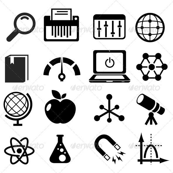 Education Icon Set Illustration