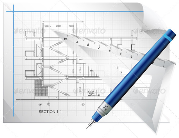 Blueprint Sheet Illustration
