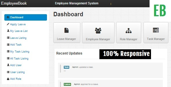 EmployeeBook  Employee Management System (PHP Scripts) images