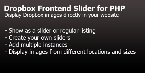 Dropbox Frontend Slider for PHP (Images and Media) images