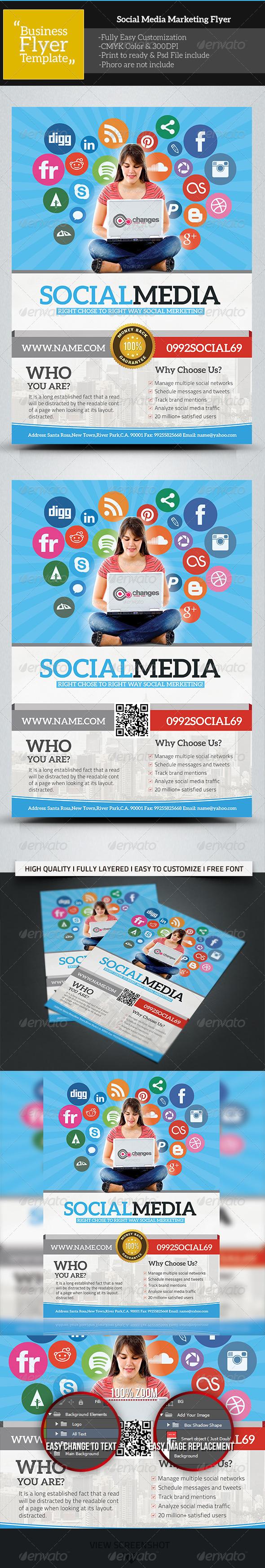 GraphicRiver Social Media Marketing Flyer 5725300
