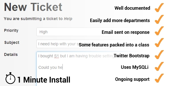 CodeCanyon sysTicket Support Ticket System 5725403