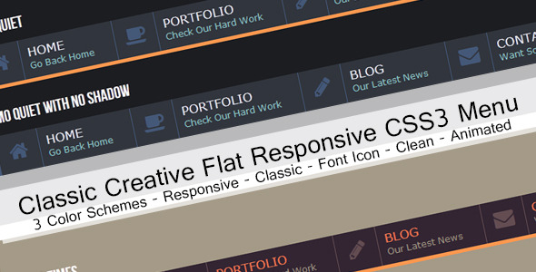 CodeCanyon Classic Flat Corporate Horizontal Menu 5725421