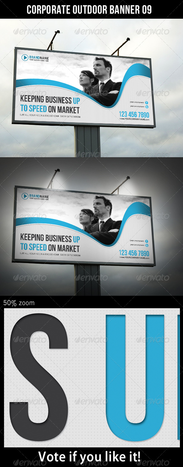 Corporate Outdoor Banner 11 - Signage Print Templates