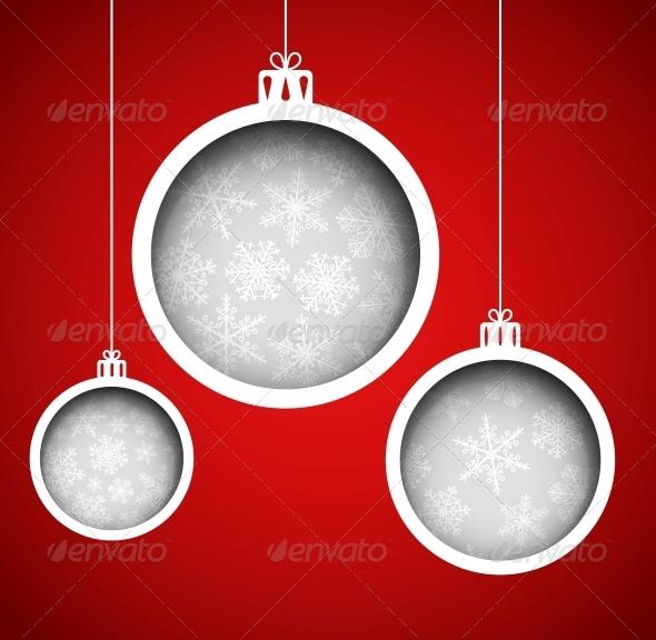 GraphicRiver Christmas balls 5726057