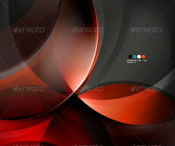 GraphicRiver Black Business Glossy Waves 5726059