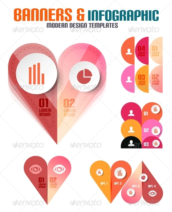 GraphicRiver Set of Modern Geometrical Banners and Infographics 5726063