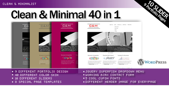 C&M 40 in 1 Clean & Minimal Wordpress Theme