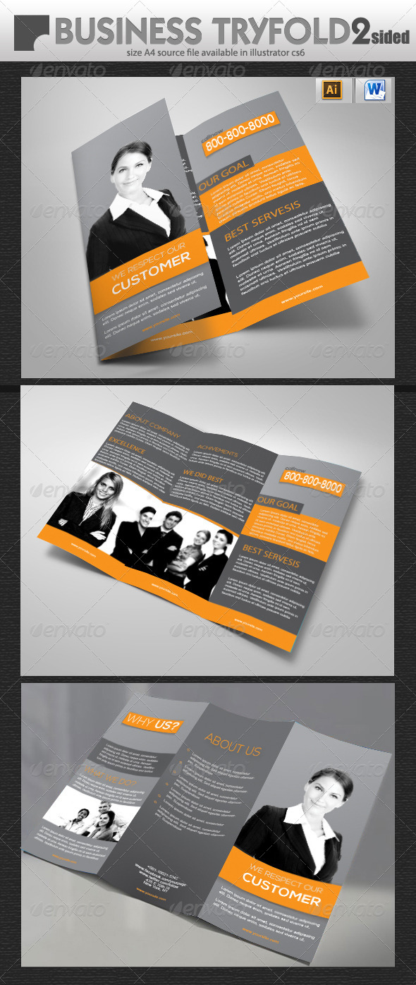 GraphicRiver Official Tri-Fold Brochure Design 5726215