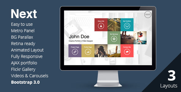 ThemeForest NEXT Unique & Easy Portfolio Responsive HTML5 5726946
