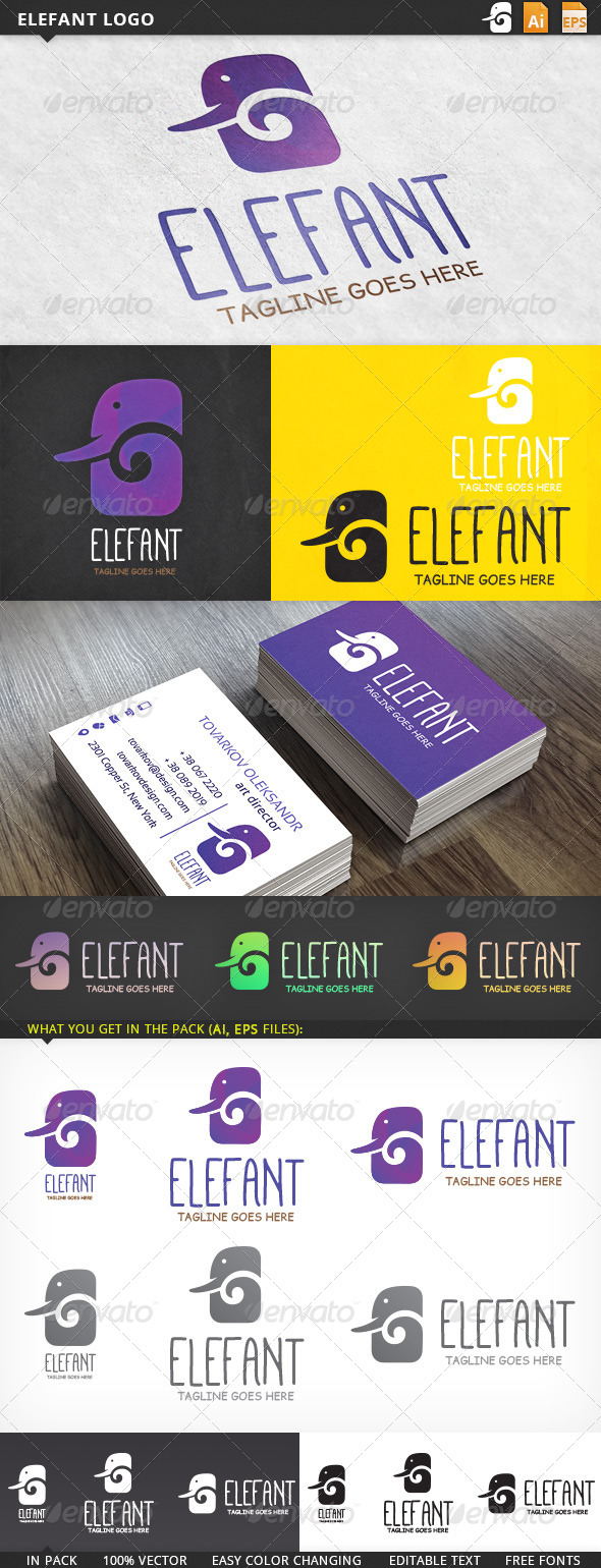 GraphicRiver Elefant Logo 5726983