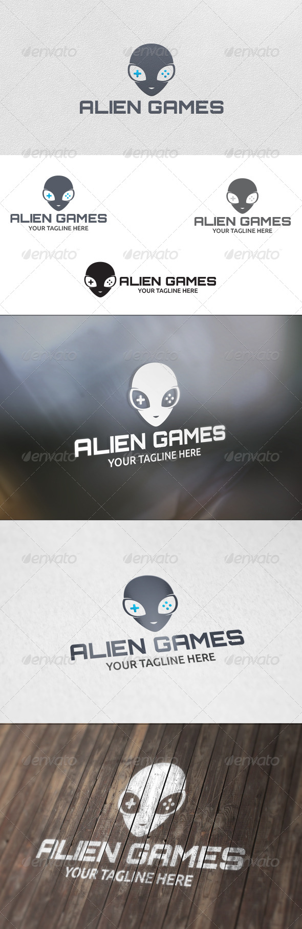 GraphicRiver Alien Games Logo Template 5727219