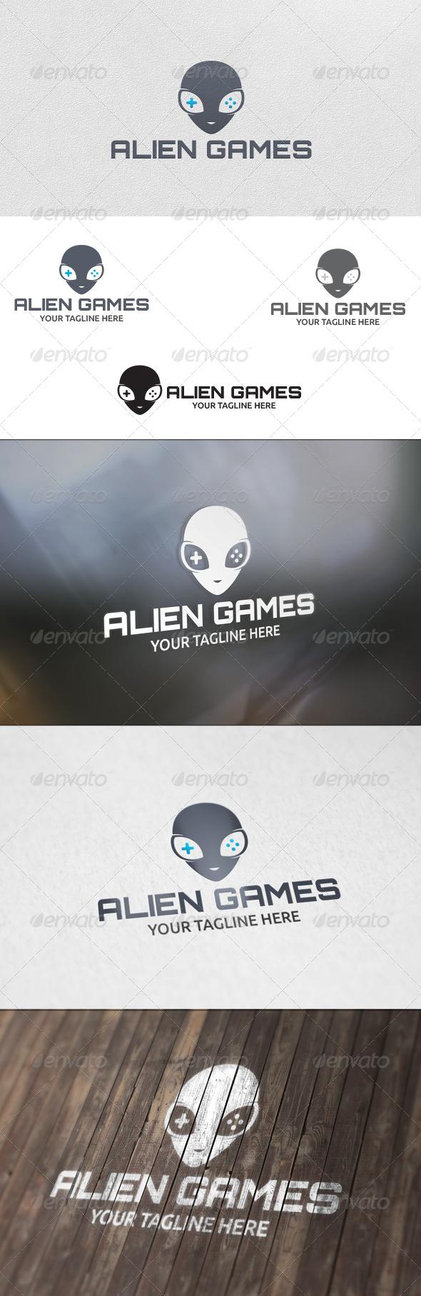Alien Games - Logo Template